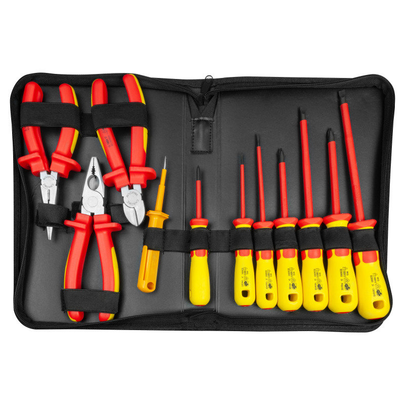 Image of 11-piece 1000V Insulated Screwdriver and Pliers Set