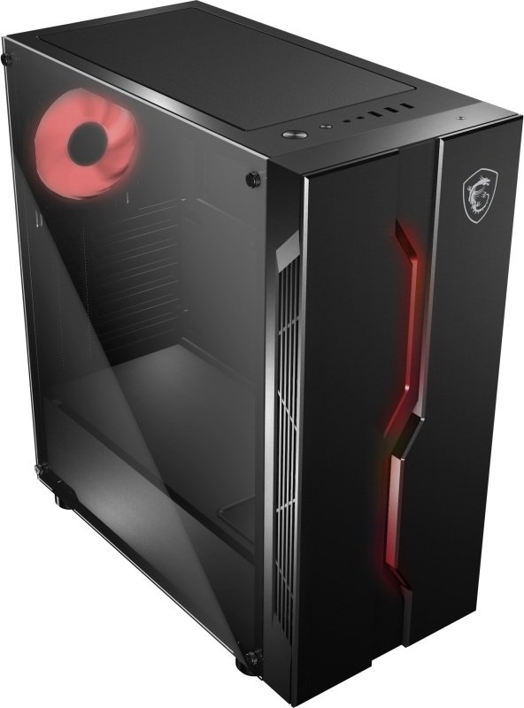 MSI MAG Series VAMPIRIC 010M Mid Tower Gaming Computer Case Black