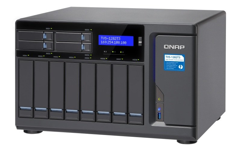 QNAP TVS-1282T3-i7-64G 12 Bay Desktop NAS Enclosure