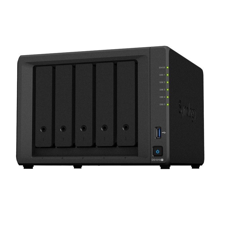 Synology DiskStation DS1019+ is a 5-bay NAS