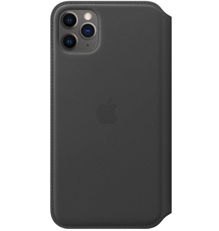 Apple iPhone 11 Pro Max Leather Folio Case Black