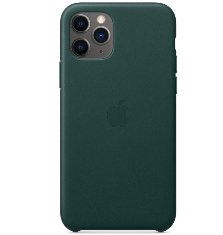 Image of Apple iPhone 11 Pro Leather Case Forest Green
