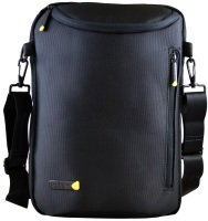 "Techair 12-14.1"" Portrait Shoulder Laptop Bag Black"