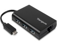 USB-C HUB TO 3X USB-A ETHERNET BLACK