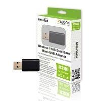 ADDON AWU-G30 Wireless 1300Mbps AC Dual Band Nano USB Adapter
