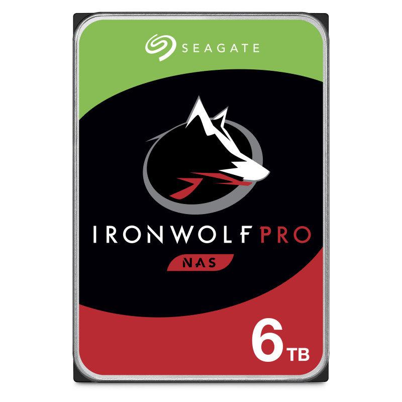 "Seagate IronWolf Pro 6TB NAS Hard Drive 3.5"" 7200RPM 256MB Cache"