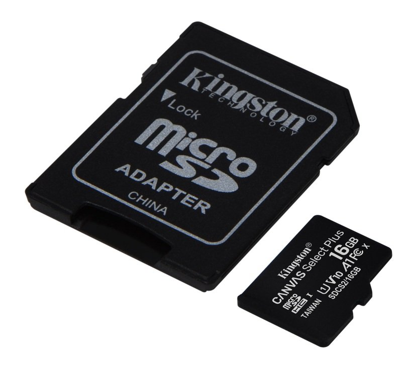 Kingston Canvas Select Plus 16GB microSD - With Adaptor