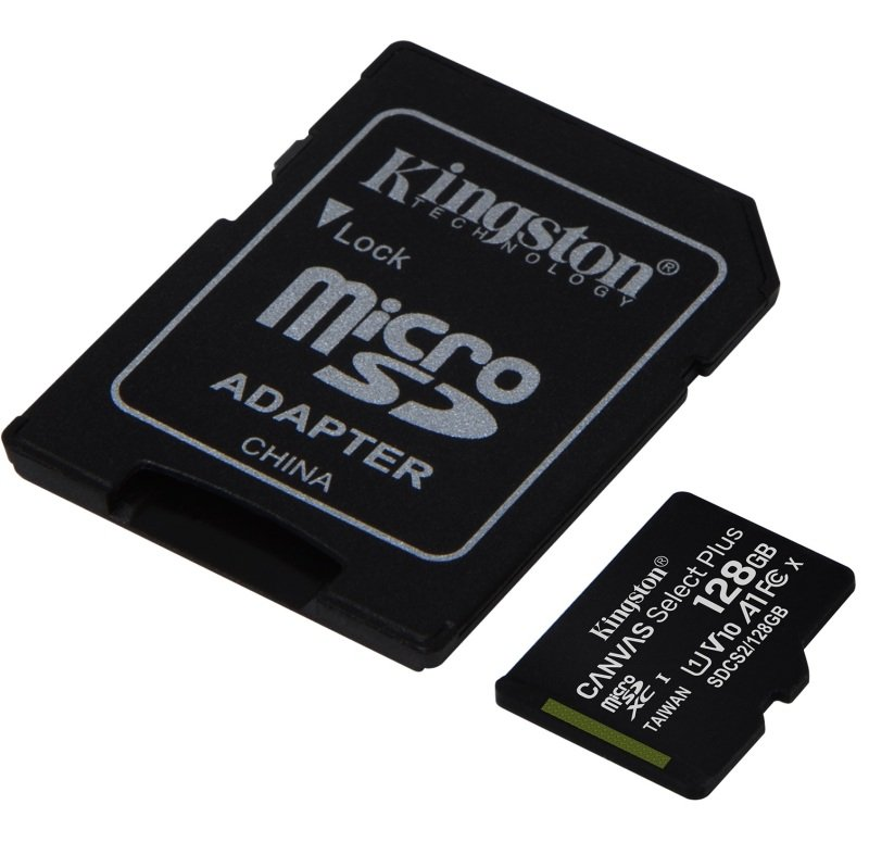 Image of Kingston Canvas Select Plus 128GB microSD - With Adaptor