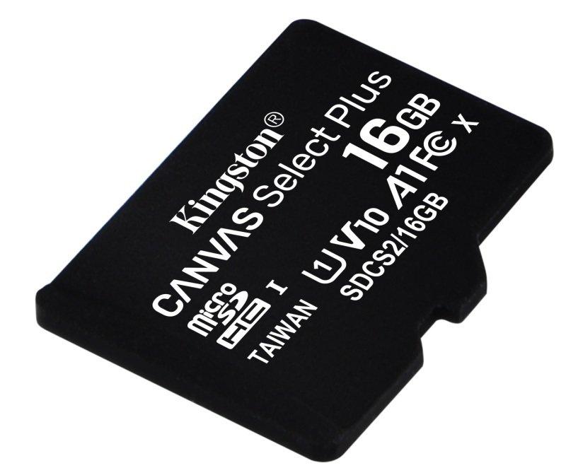 Image of Kingston Canvas Select Plus 16GB microSD - No Adaptor