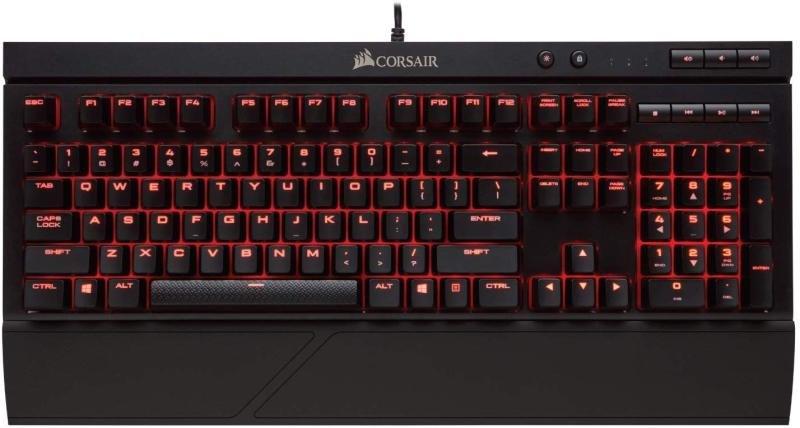 Corsair Gaming K68 Mechanical Keyboard Backlit Red LED Cherry MX Red