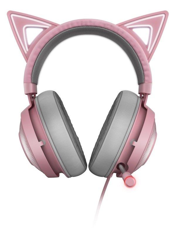 Razer Kraken Kitty - Kitty Ear USB Headset with Chroma - Quartz