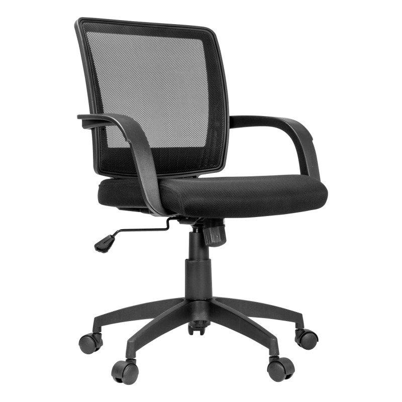Milan Mesh/Fabric Office Chair - Black