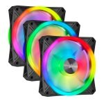 CORSAIR iCUE QL120 RGB 120mm PWM Triple Fan with Lighting Node CORE
