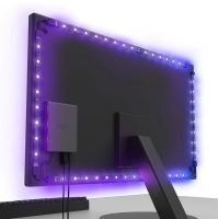 "NZXT Hue 2 V2 Ambient RGB Lighting Kit - Up To 25"" or 35"" Ultrawide"