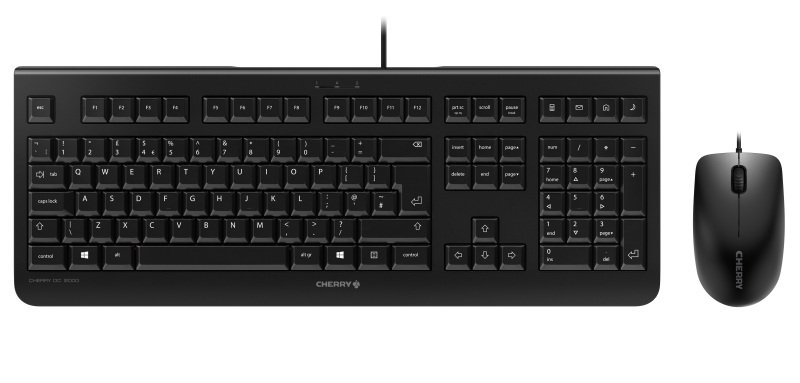 CHERRY DC 2000 Wired USB Keyboard & Mouse