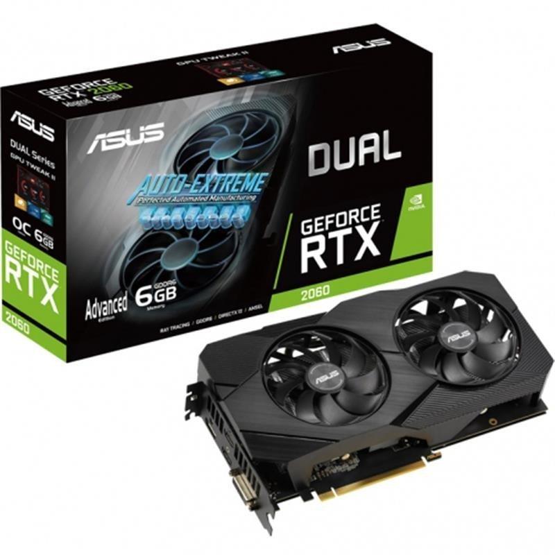Asus GeForce RTX 2060 DUAL Advanced EVO 6GB Graphics Card