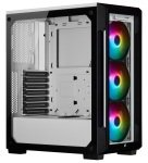 CORSAIR iCUE 220T RGB Tempered Glass Mid-Tower Smart Case, White