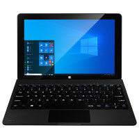 """EXDISPLAY Coda Zest 10.1 32GB 2-in-1 Laptop Intel Celeron N3350 1.1GHz 2GB LPDDR4 32GB eMMC 10.1"""" HD IPS No-DVD Intel HD WIFI Bluetooth Windows 10 Home 64bit"""