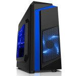 EXDISPLAY EG Cs55 Micro-ATX Tower Case - Blue