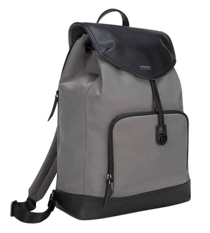 "Image of Newport 15"" Drawstring Laptop Backpack Grey"