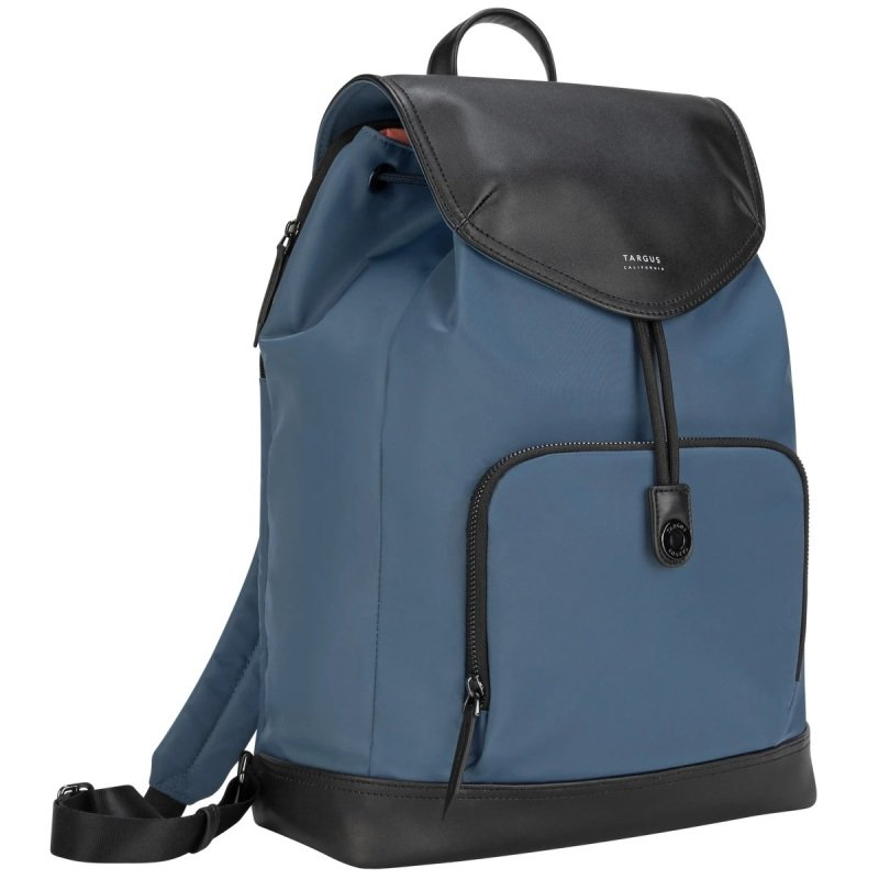 "Image of Newport 15"" Drawstring Laptop Backpack Blue"