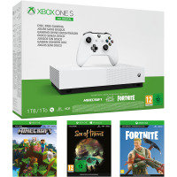 Xbox One S 1TB All Digital Console with Sea of Thieves, Fortnite and Minecraft Digital Downloads