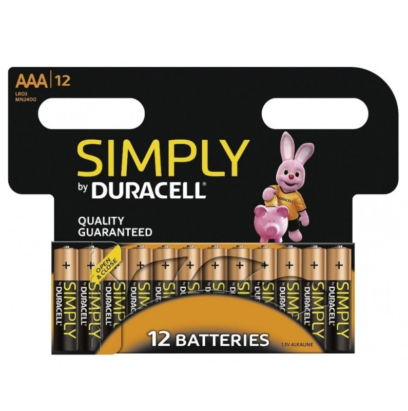 Duracell Simply AAA 12 Pack