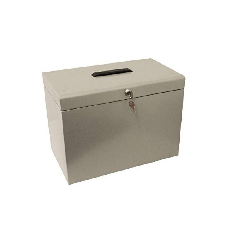 Cathedral A4 Metal File Box Grey