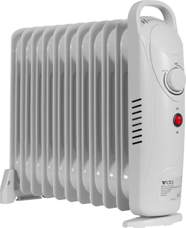 Vida 11 Fin Oil Heater (White)