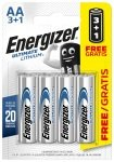 Energizer Ultimate Lithium AA 3+1 Batteries