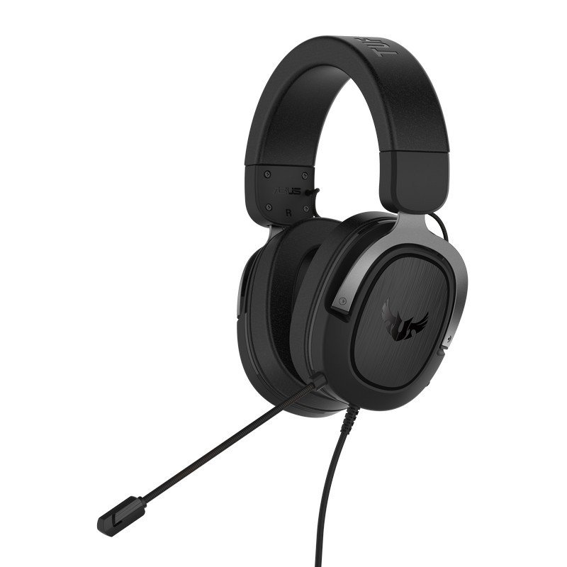 Asus TUF Gaming H3 7.1 Gaming Headset, 3.5mm Jack, Boom Mic, Surround Sound, Deep Bass, Fast-cooling