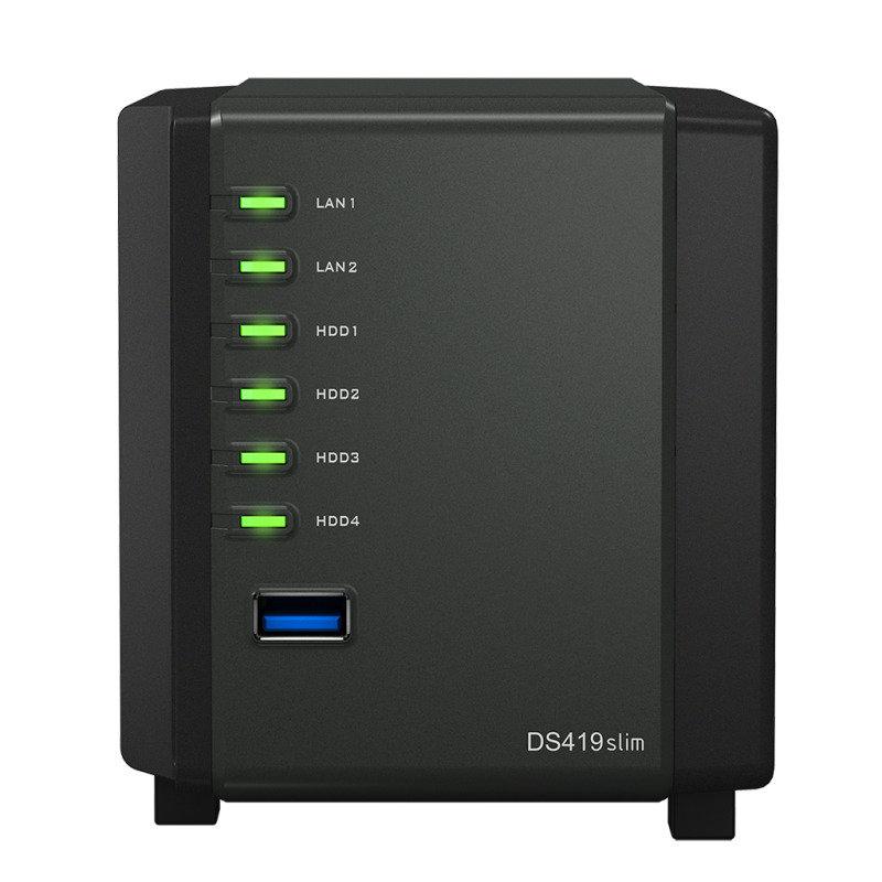 Synology DS419slim 4 Bay Desktop NAS Enclosure