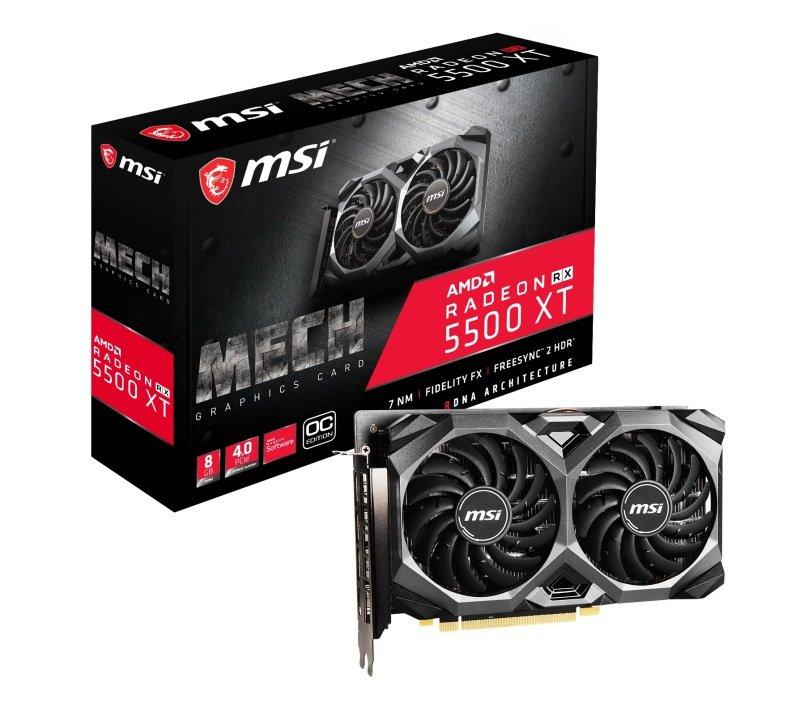 MSI Radeon RX 5500 XT MECH OC 8GB Graphics Card