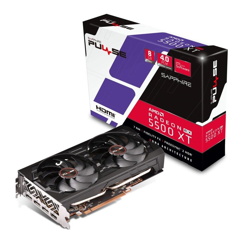 Sapphire Radeon RX 5500 XT PULSE 8GB Graphics Card