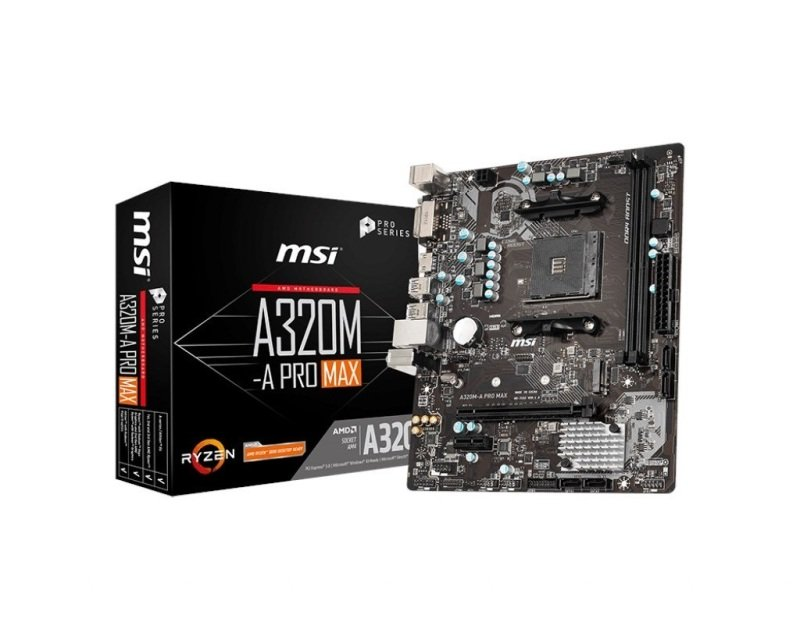 MSI A320M-A PRO MAX AMD AM4 mATX Motherboard