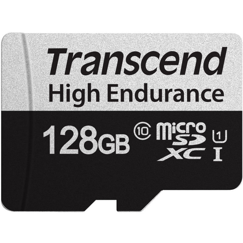 Image of Transcend 128GB UHS-I U1 High Endurance Micro SD Card