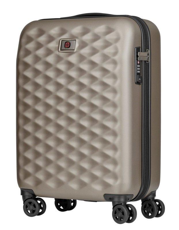 """Wenger Lumen Hardside Luggage 20"""" Carry-on Titanium"""