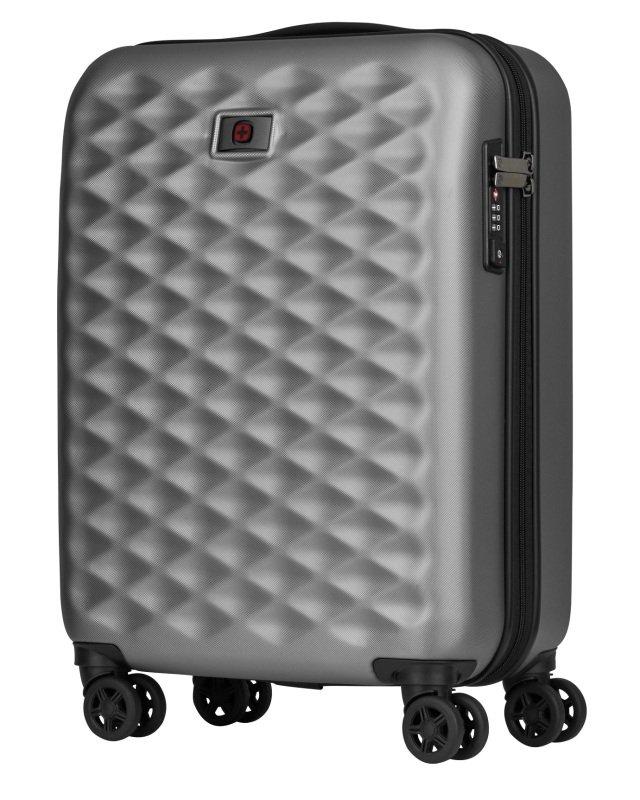 "Wenger Lumen Hardside Luggage 20"" Carry-on Silver"