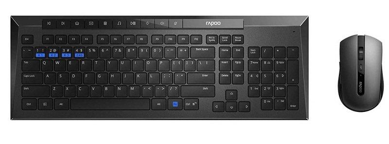Rapoo 8200M Wireless DT Combo Set - Black