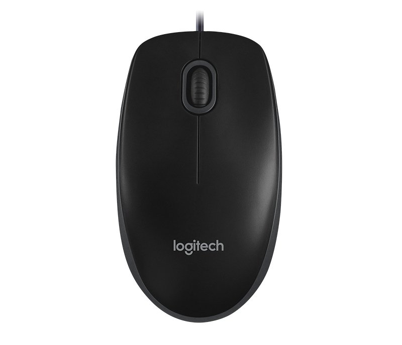 Logitech B100 Optical Mouse Black