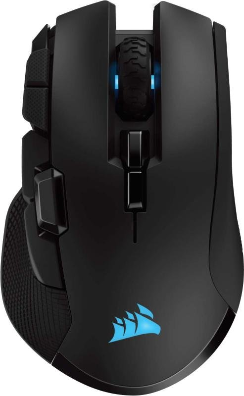 Image of Corsair Ironclaw Wireless RGB, Rechargeable Wireless Optical Gaming Mouse with Slipstream Technology (18,000 DPI Optical Sensor, 3-Zone RGB Multi-Colour Backlighting), Black