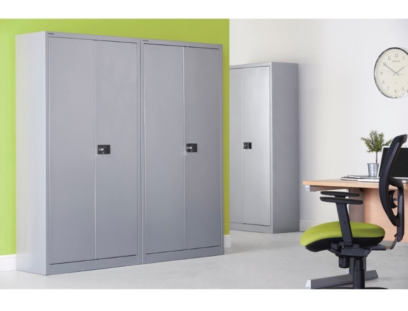 Steel Contract Cupboard With 3 Shelves 1806mm High