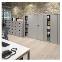 Bisley Systems Storage High Tambour Cupboard 1970mm High