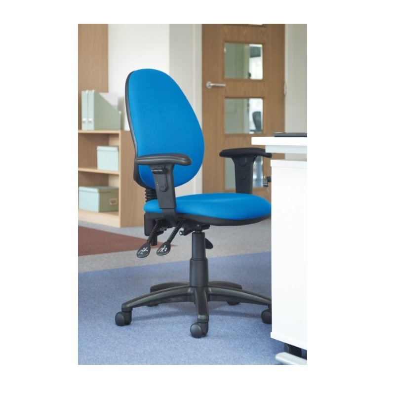 Vantage Plus High Back Asynchro Operators Chair With Adjustable Arms