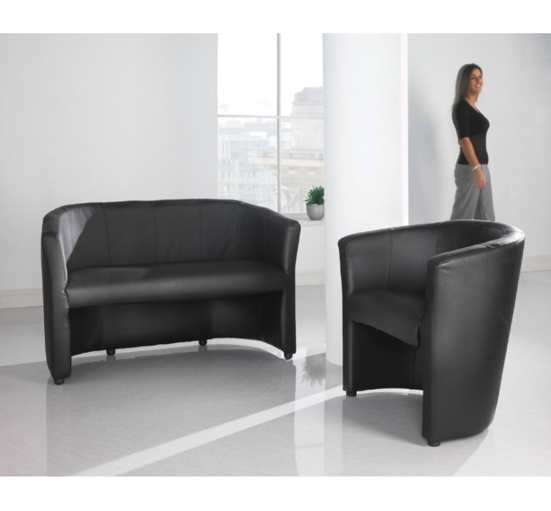 London Reception Double 2 Seater Chair 1185mm Wide