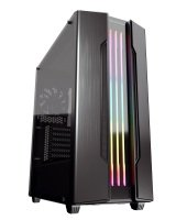 Cougar Gemini S Mid Tower Gaming Case RGB Tempered Glass with Trelux Dynamic RGB Lighting System (Iron-gray)