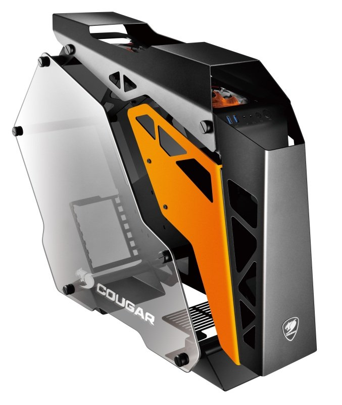 Image of Cougar Conquer Mid Tower Gaming Case Ultimate Dream Masterpiece Aluminum Open Frame Chasis
