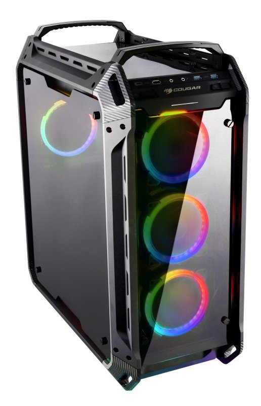 Cougar Panzer Evo RGB Full Tower Gaming Case Tempered Glass with 4 x Vortex RGB Fans and Controler