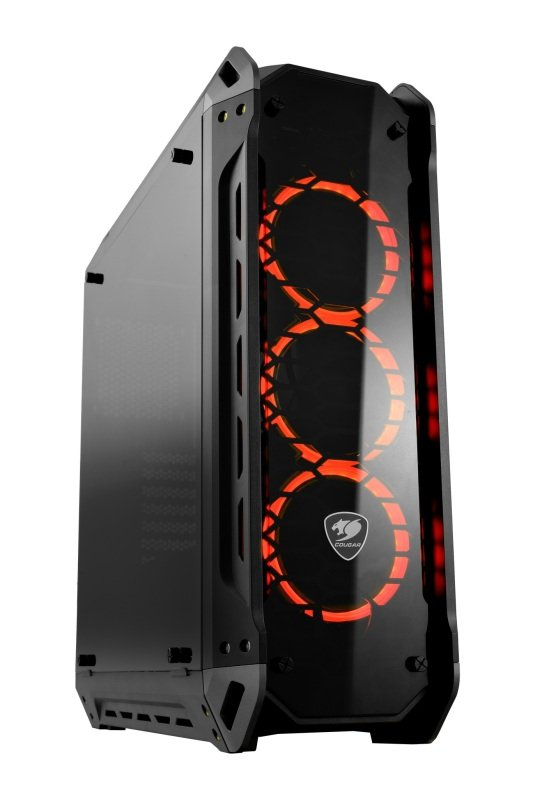 Image of Cougar Panzer-G Mid Tower Gaming Case Tempered Glass with cover 3 x Vortex LED Fans