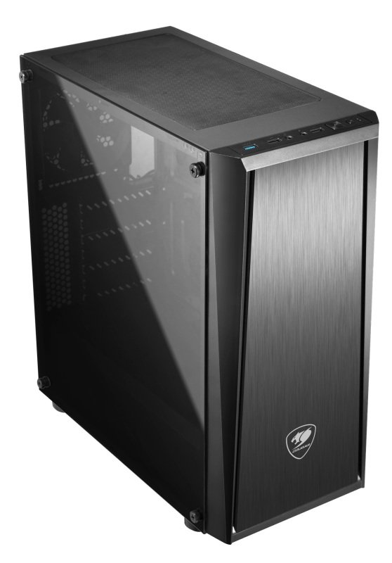 Cougar MX340 Mid tower Gaming Case Tempered Glass Supports Up To 360mm Radiator